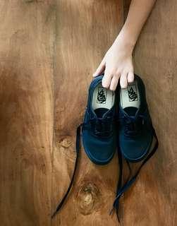 Vans Kids Authentic All Black Shoes