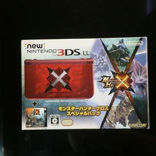 New Nintendo 3DS LL Monster Hunter X edition