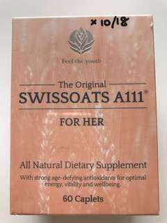 🚚 Brand New SWISSOATS A111 for HER all natural Dietary Supplement 60 caplets