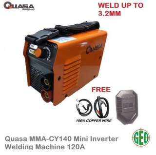 [HOT SELLING] QUASA MMA-CY140 MINI INVERTER WELDING MACHINE 120A