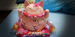 Pink Fortune Cat