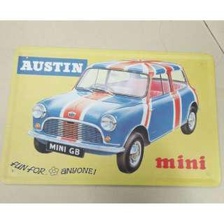 Austin Mini wall deco metal sign