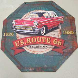 Wall deco us route 66