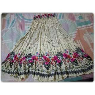 2 in 1 use tube dress / flare skirt Free size