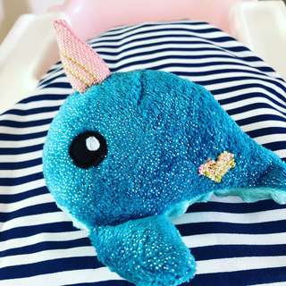 Customised Handmade Unicorn Narwhal with Wrap scrap