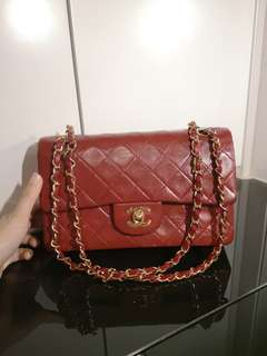 Chanel Vintage Double Flap 24Gold Plated