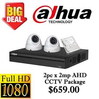 Dahua 1080P AHD CCTV Package 2 ++++