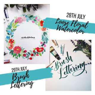 Watercolor Floral Workshop | Brush Lettering Workshop