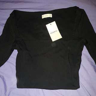 Kookai black elsa top