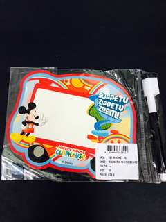 Disney mickey mouse magnetic White board with pen 迪士尼米奇老鼠磁石迷你白板 連白板筆