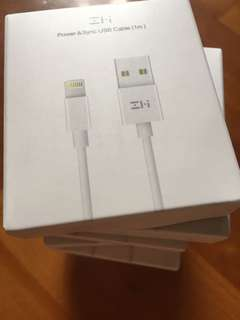 Zmi 認證 mfi certified lighting usb 1m