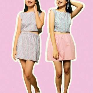 Agatha Terno Reversible Set (Top and Skirt)