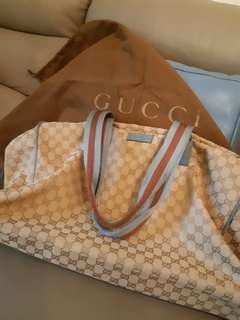Gucci 布質大旅行袋