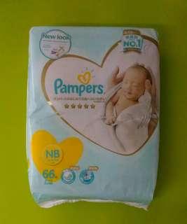 Brand New Pampers Premium Care Newborn 66 Pcs [UP: $23.95]