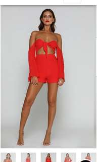 Brand new Meshki red playsuit