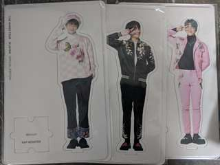 BTS RM Jimin Jungkook Kyocera Dome Wings Tour in Japan Paper Stand