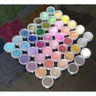 45 Nail Glitter Pots Nail Art Design All Different Colours Metallic Pastel