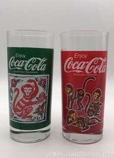 可口可樂杯90年代生肖猴杯1对