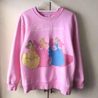 Disney Girls' Pink Princess Sweater (10-12 years old)