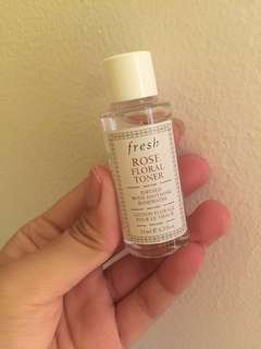 Fresh rose floral toner travel size