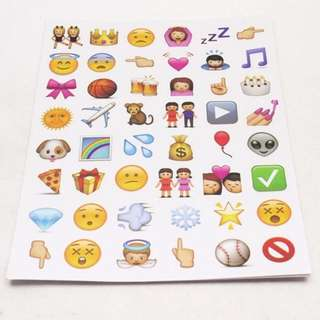 D. Lovely 48 Die Cut Emoji Smile Face Sticker for Phone Laptop (FREE POSTAGE)
