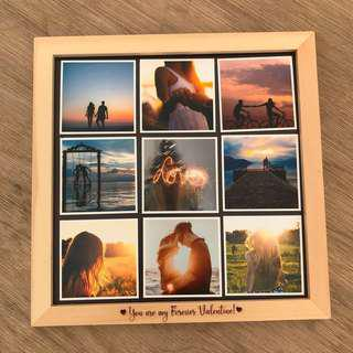 Natural Wood Frame With Photo Magnets