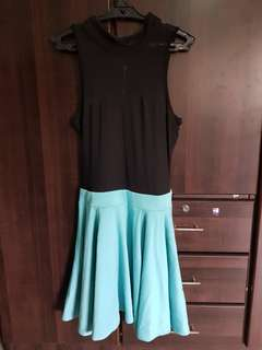 Forever 21 Black and Turquoise Dress
