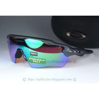 35dd79b23d BNIB Oakley Radar EV XS Path Youth Fit steel + prizm golf OJ9001-0331 (