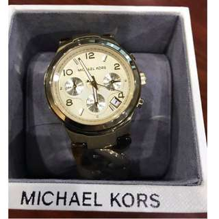 Michael Kors Tortoise Runway Chain Watch