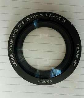 Lensa depan copotan 18-135mm