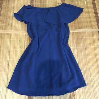 GTW Navy Blue Off Shoulder Dress