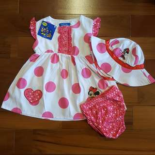 Minnie polkadot 3-in-1 set hat
