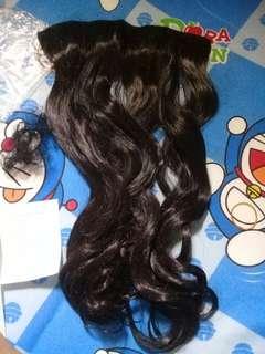 Hair clip curly black