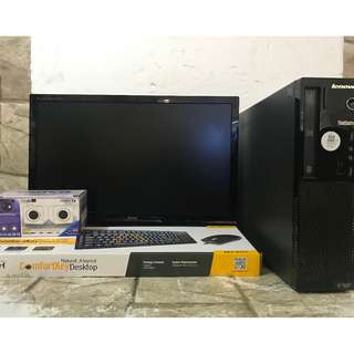Lenovo cpu core i3 4th gen processor  with 500gb hdd complete package set 22 inches wide led