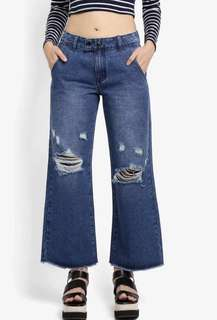 Ripped Jeans Cullotes