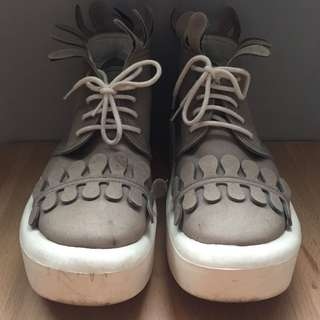 Tokyo bopper belly button umbilical 888 灰色 皇冠 厚底鞋 22號 23.5可