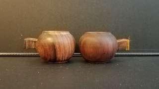木製鳥食杯
