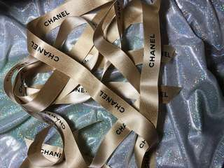 Chanel Gold Colour ribbon