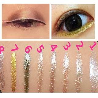 Readystock HENGFANG Eyeliner Gel Liner Eye Liner 2 silver / 3 gold / 6 green