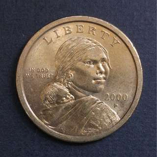 2000-P 薩卡加維亞一美元硬幣一枚