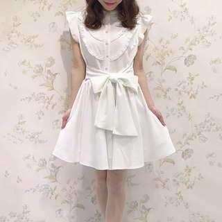正品 Evelyn 姊妹牌  AnMILLE 日本 日牌 白色無袖洋裝 OP