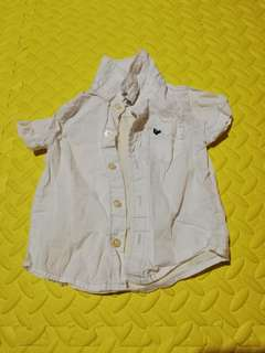 Carter's White Top for Baby Boy (6 mos)