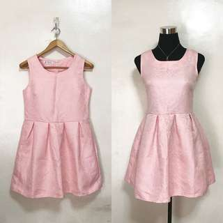 Pastel Pink Textured Dress