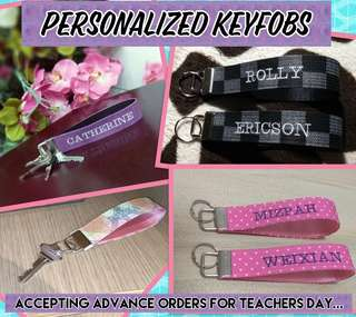 Personalized Keyfobs /Key Wristlets (Perfect for gifts and giveaways)