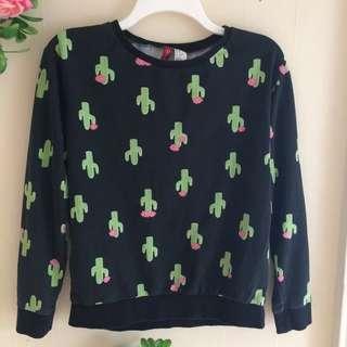 H&M cactus sweatshirt