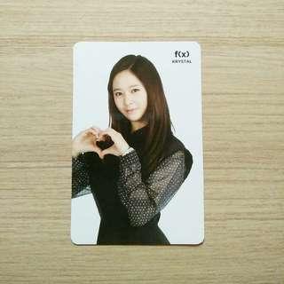 f(x) krystal sm coex artium official photocard