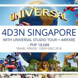 4D3N SINGAPORE WITH UNIVERSAL TOUR  + AIRFARE