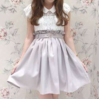 正品 日牌 Evelyn 腰帶裝飾半身裙 SK