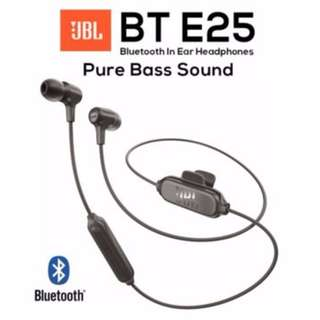 JBL E25BT Bluetooth Wireless Earpiece Headphones Headset with Mic