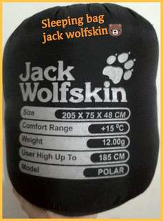 Sleeping bag jack wolf skin